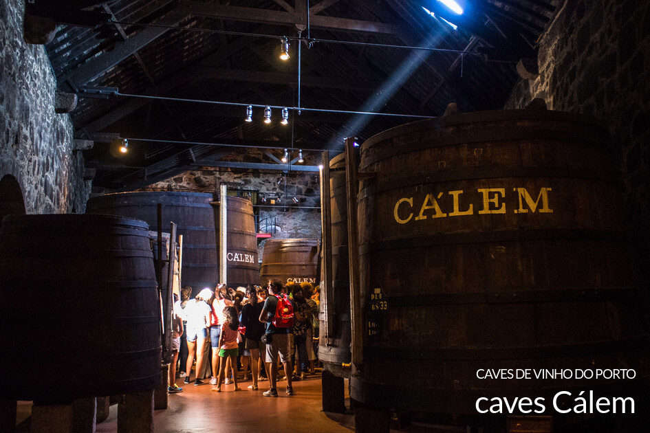Caves de vinho do Porto Cálem
